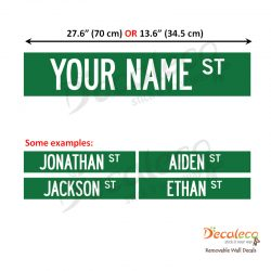 Personalized Street Sign Wall Decals