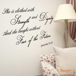 Strength and Dignity Wall Quote