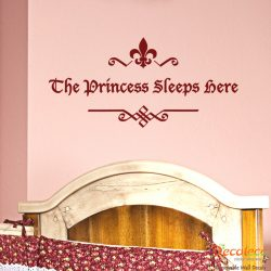 The Princess Sleeps Here Wall Decal