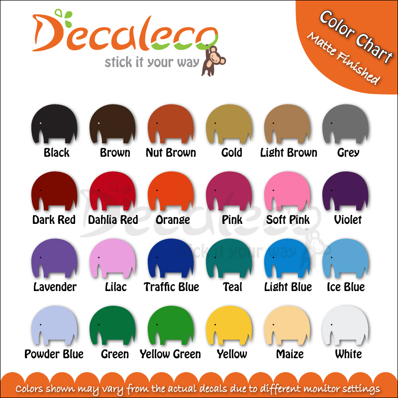 Decaleco Color Chart