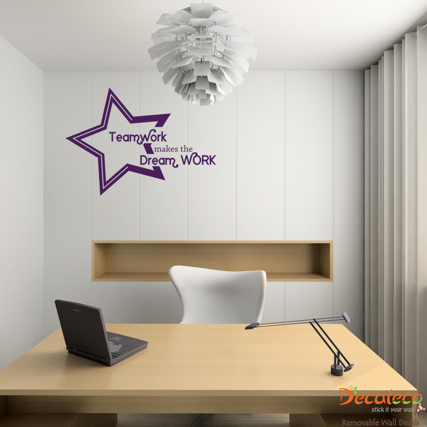 Wall Decals Quotes: Teamwork Makes The Dream Work