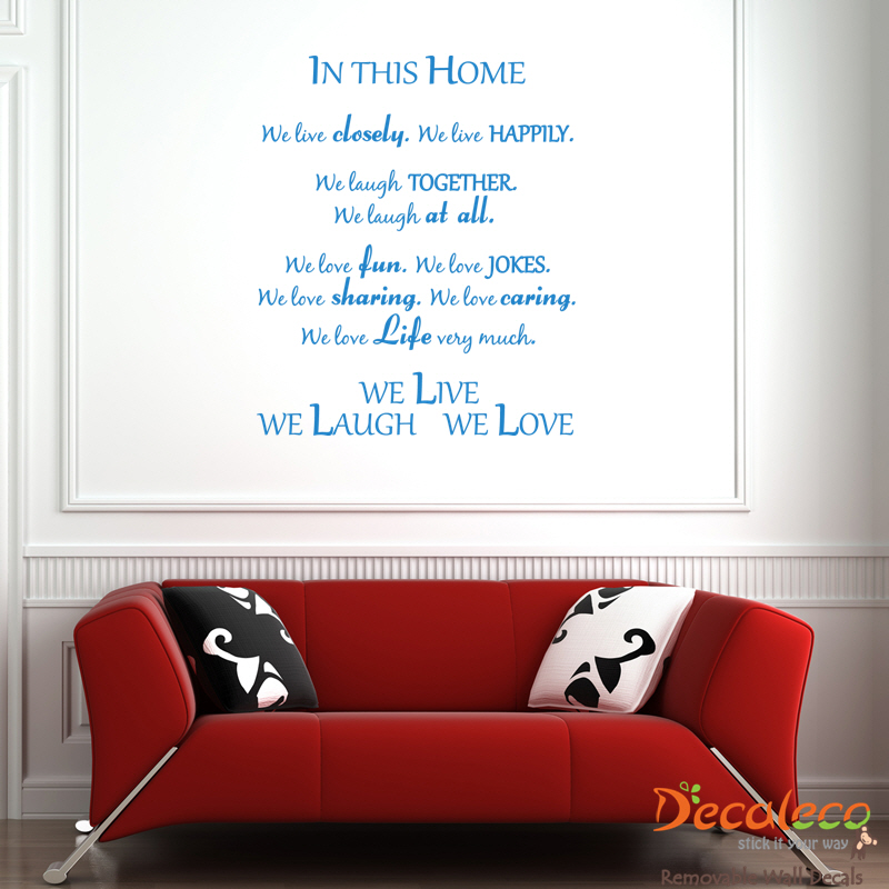 Live Laugh Love Wall Quote (Long
