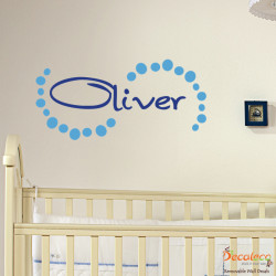 Custom Kid's Name with Dots Wall Decals