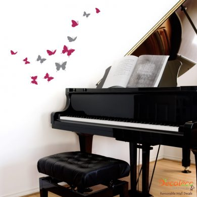Flock of 12 Butterflies Wall Decals