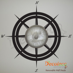 Nautical Compass (Wall/Ceiling Decal) Wall Decal