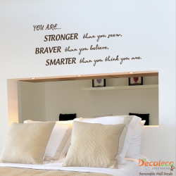 Stronger, Braver, Smarter Wall Quotes