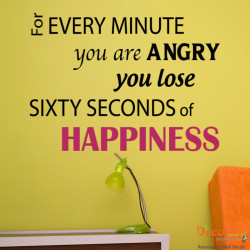Sixty Seconds of Happiness Wall Quotes