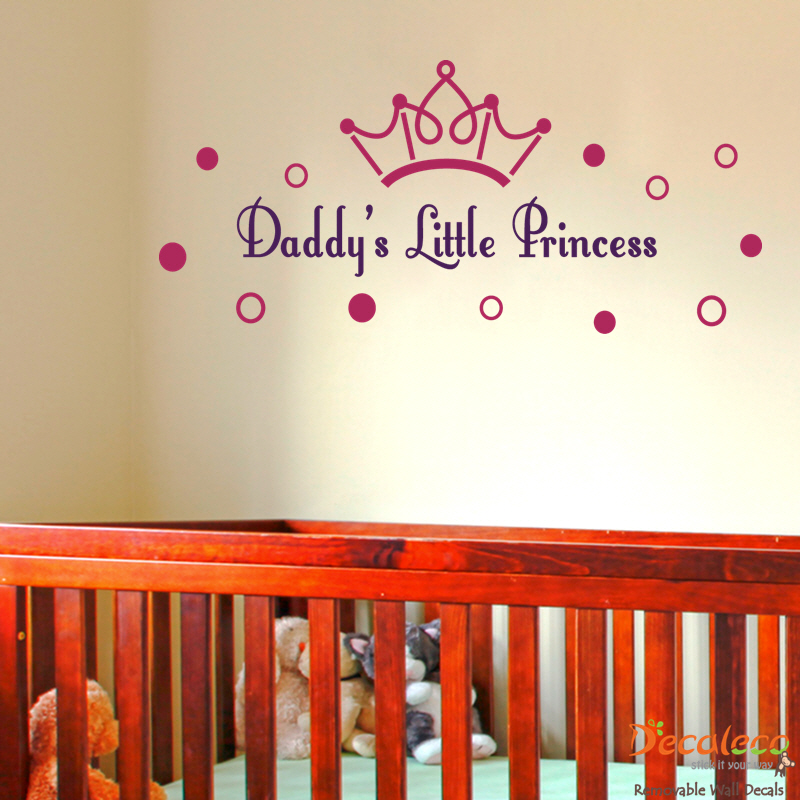 Daddyu0027s Little Princess Wall Decal