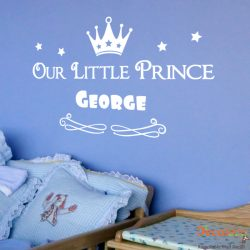 Our Little Prince with Custom Name Wall Decal