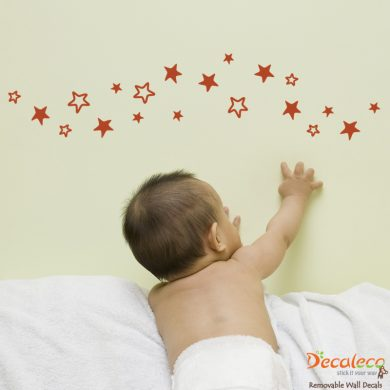 Set of 20 Stars Wall Decals