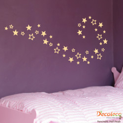 Set of 40 Stars Wall Decals