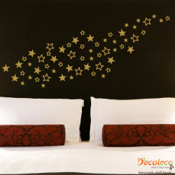 Set of 60 Stars Wall Decals