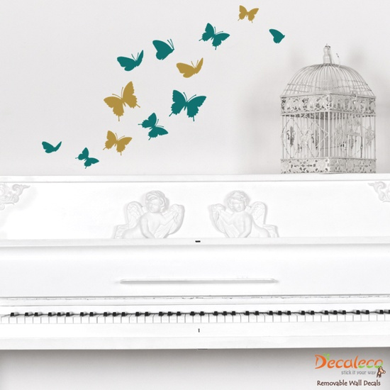 Good Flock of Butterfly wall decal