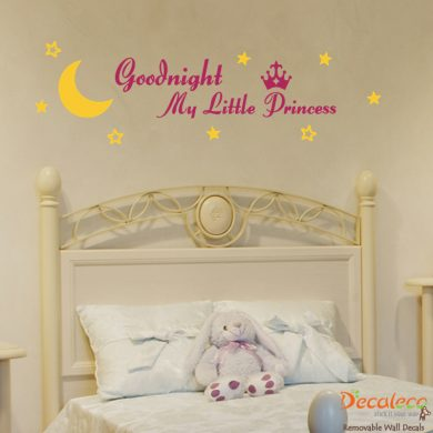 Goodnight My Little Princess Wall Decal