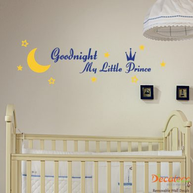 Goodnight My Little Prince Wall Decal