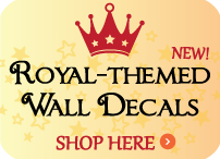 Royal Themed Wall Decals offered by Decaleco.com