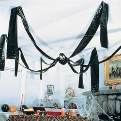 giant hanging halloween black spider - Office Halloween Decor