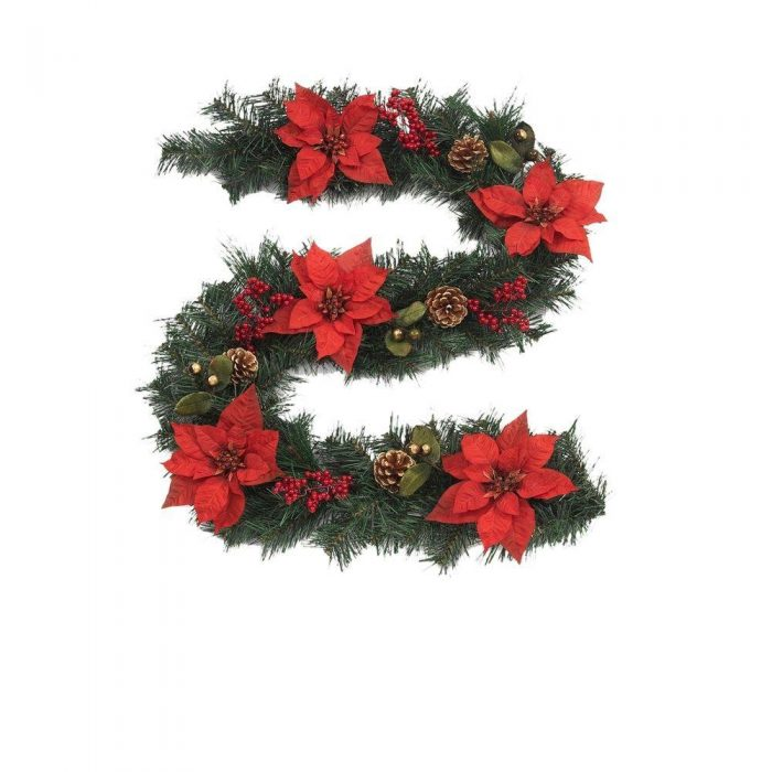 Martha-Stewart-Living-Winterberry-6-ft-Red-Poinsettia-Garland-with-Red-Berries-and-Pinecones